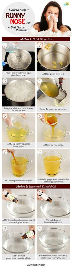 How to Stop a Runny Nose Fast with 6 Best Home Remedies
