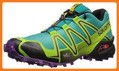 4526ef54104d4 Salomon Women's Speedcross 3 W Trail Running Shoe, Teal Blue, 8.5 B US (