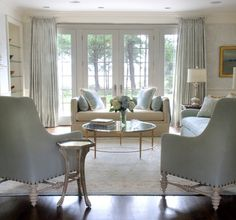 pale blue living room...