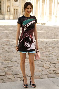 Claudia Kim - Front Row At Christian Dior SS15 #PFW