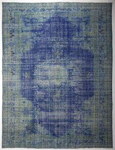 Perski dywan vintage błękitny zabytkowy dywan turecki kilim