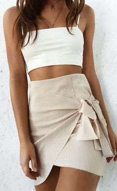 33 Ideas Skirt Wrap Outfit Summer Short For 2019 Mode Outfits Casual, Mode Outfits, Skirt Outfits, Dress Skirt, Summer Outfits, Fashion Outfits, Girly Outfits, Dress Fashion, Cute Skirts