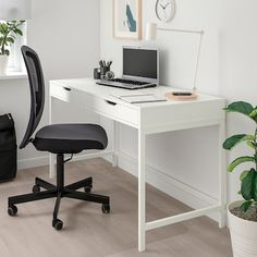 "ALEX Desk, white, 51 5/8x23 5/8"" - IKEA"