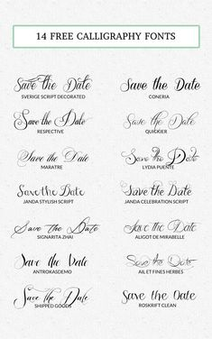 34 Free Calligraphy Script Fonts for Wedding Invitations ...