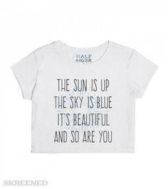 Sun is up, sky is blue  #skreened #beatles #croptop #dear #prudence #lyrics #shirt