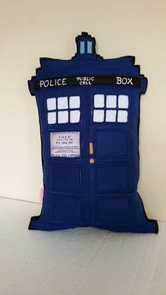 Handmade Doctor Who Tardis Booth Plush Pillow by RbitencourtUSA.deviantart.com on @DeviantArt