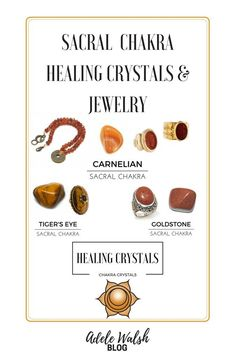 How to Balance your Chakras and Attract Positive Vibes Part The Sacral Chakra. Crystals to help heal your Sacral Chakra. Chakra Heilung, Chakra Mantra, Chakra Symbols, Spiritual Symbols, Chakra Crystals, Crystals And Gemstones, Chakra Root, Healing Gemstones, Chakra Healing Music