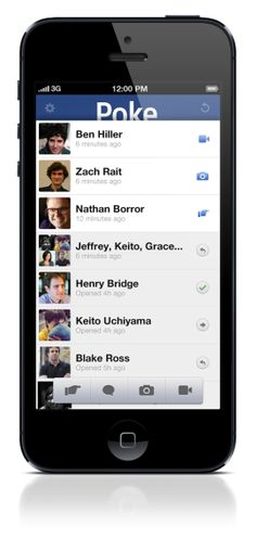 Poke for mobile: Facebook's new sexting app