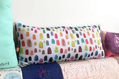 Gumdrop pattern pillow by MsSpanner on Etsy, £34.00