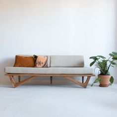 Cherry Boomerang Sofa by atomic