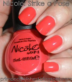 Prim and Polished: A Nail Polish Blog: On Wednesdays We Wear Pink: Nicole by OPI Strike a Pose