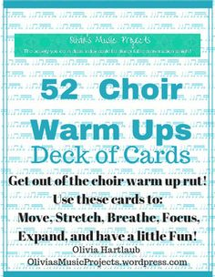 If you go to the good old, familiar warm ups every single chorus practice, your students are probably bored. Shake things up (and get those voices going) by using these 52 Choir Warm Ups Deck of Cards to freshen your practice up!