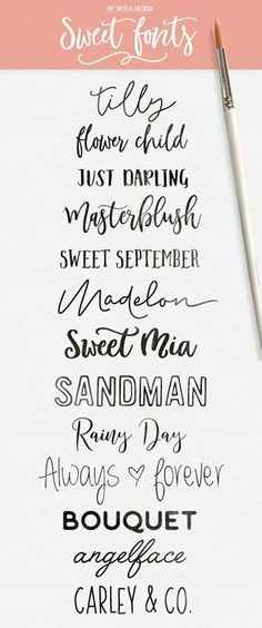 Here are some fresh sweet modern calligraphy & handwritten fonts! Some free som - Fun Graphics - Ideas of Fun Graphics - Here are some fresh sweet modern calligraphy & handwritten fonts! Some free some for a sweet deal. Cute Fonts, Fancy Fonts, Pretty Fonts, Police Font, Typography Fonts, Vintage Typography, Calligraphy Fonts Free, Hand Lettering Fonts Free, Best Free Handwritten Fonts