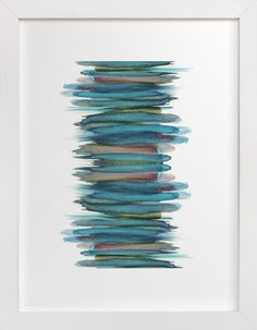 Abstract Brushstrokes by Kelsey McNatt at minted.com