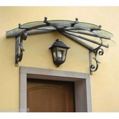 This commercial awning is truly a remarkable design approach. Gazebo Canopy, Door Canopy, Shade Canopy, Awning Over Door, Aluminum Awnings, Wrought Iron Decor, Diy Garden Furniture, Porche, Steel Doors