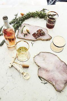 Agate Cheese Board in Rose Quartz | Anthropologie