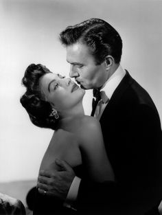 Portrait of Ava Gardner and James Mason in East Side, West Side directed by Mervyn Leroy, 1949