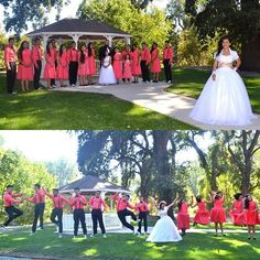 Have fun with your court at your photography session. | Photography ideas | Quinceanera Photography |