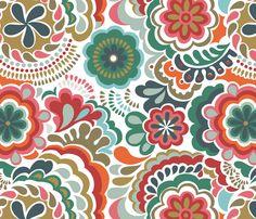 Autumn Swirls fabric by chulabird on Spoonflower - custom fabric