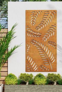 Contemporary Garden, Contemporary Design, Metal Garden Screens, Garden Screening, Elements Of Style, Garden Art, This Is Us, Leaves, Inspiration