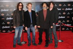 "Sound Garden Photos Photos - Musician Chris Cornell and the band Sound Garden arrive at the premiere of Marvel Studios' 'The Avengers' at the El Capitan Theatre on April 11, 2012 in Hollywood, California. - Premiere Of Marvel Studios' ""Marvel's The Avengers"" - Arrivals"