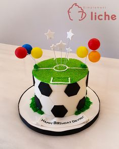 You are in the right place about Soccer Cake smash Here we offer you the most beautiful pictures abo Soccer Ball Cake, Soccer Cakes, Candy Cakes, Cupcake Cakes, Liverpool Cake, Barcelona Cake, Football Birthday Cake, Cake Templates, Cake Pictures