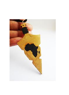 Wood Arrowhead Necklace Africa Necklace Africa Map Men African