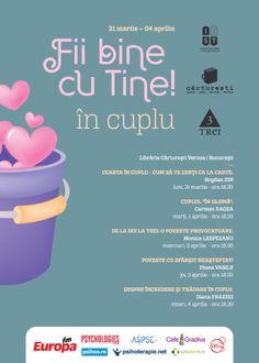"""FII BINE CU TINE IN CUPLU: 5 ateliere """"psi"""" despre cuplu, certuri si fidelitate (la Cărturești-Verona)"""