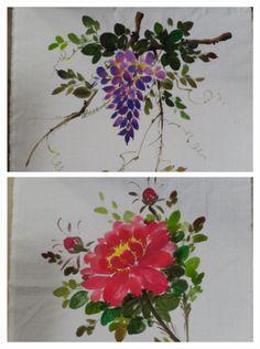 바오밥나무 블로그 Watercolor Cards, Watercolour Painting, Fabric Painting, Fabric Art, One Stroke Painting, Painted Clothes, World Of Color, Art Background, Chinese Painting