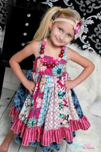Serena's stripwork dress pattern from Create Kids Couture !
