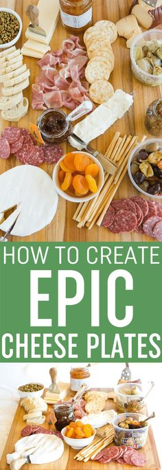How To Create an Epic Cheese Plate: A simple formula for an amazing cheese plate that will become your go-to appetizer! | browneyedbaker.com via @browneyedbaker