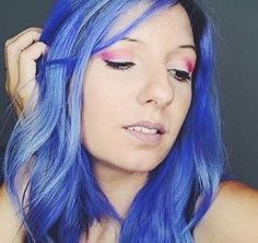 created this lovely color using a bit of in o. Manic Panic, Hair Inspo, Hair Inspiration, Multicolored Hair, Colorful Hair, Periwinkle Color, Hair Creations, Haircut And Color, About Hair