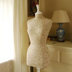 Tailored Two Toned Faded Roses Linen by CorsetLacedMannequin, £190.00