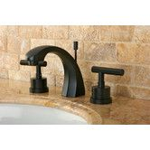 Found it at Wayfair - Manhattan Double Handle Widespread Bathroom Faucet with Brass Pop-up