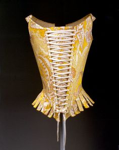 Silk Brocade Corset, 1770s - The Met