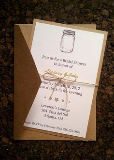 DIY invitations....