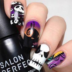 Recopilamos 40 magníficas ideas de decoración de uñas para las fiestas de Halloween