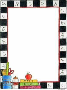 back to school bulletin board writing paper template - Borders and Frames - Borders For Paper, Borders And Frames, Beginning Of School, First Day Of School, School Border, Page Borders Design, Border Design, Back To School Bulletin Boards, School Frame