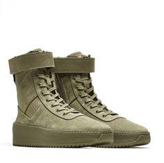 171b1d241d588 Fear Of God La Military Sneaker Justin Bieber Military Green Olive Size 39  Us7 8
