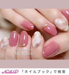 Elegant Nail Designs, Creative Nail Designs, Best Nail Art Designs, Stylish Nails, Trendy Nails, Fancy Nails, Love Nails, Korean Nail Art, Pink Nail Art