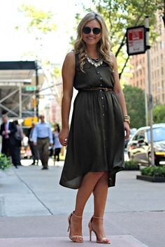 Ann Taylor High-Low Shirt Dress