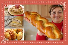 Italian Cooking, Italian Recipes, Biscuit Bread, Wie Macht Man, Pan Dulce, Antipasto, Food Illustrations, Christmas Treats, Hot Dog Buns