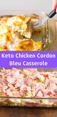 Keto Chicken Cordon Bleu Casserole #ketorecipes #lowcarb #casserole