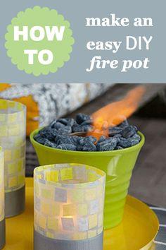 Easy DIY craft idea: How to make a outdoor fire pot