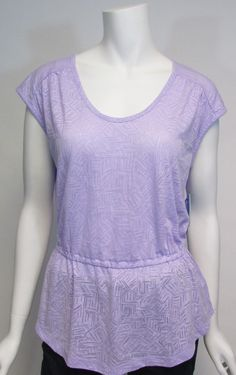 Columbia Women's Cap Sleeve See Through You Burnout Tee Sz M NWT #Columbia #KnitTop #Casual