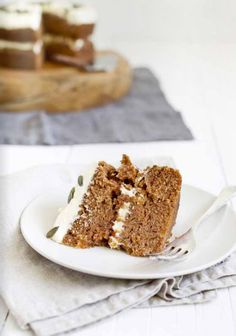 Yum. | carrot cake with cream cheese frosting
