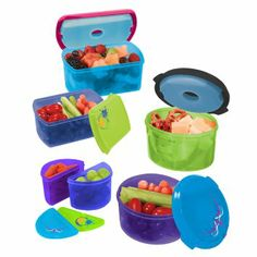 Kids Lunch Container Set with Removable Ice Packs