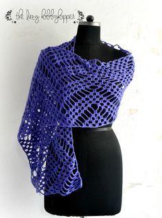 Zigzag wrap free #crochet pattern form Lazy Hobbyhopper