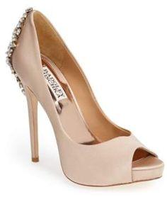 fd2e54bf7f6a Badgley Mischka  Kiara  Crystal Back Open Toe Pump  171.50 http   shopstyle  · Shoes Heels ...