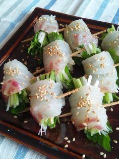 パーティーの一品に♪見た目もかわいいフィンガーフードのレシピ集 | キナリノ Sushi Recipes, Asian Recipes, Cooking Recipes, Party Dishes, Fun Easy Recipes, Japanese Food, Food Inspiration, Food Photography, Food Porn